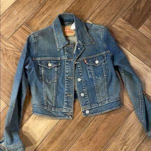 Levi's crop jacket